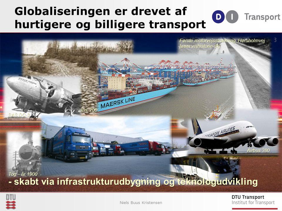 Globaliseringen er drevet af hurtigere og billigere transport Niels Buus Kristensen 3 Hobro Herredsvej [Vejmanden, 2003 s.