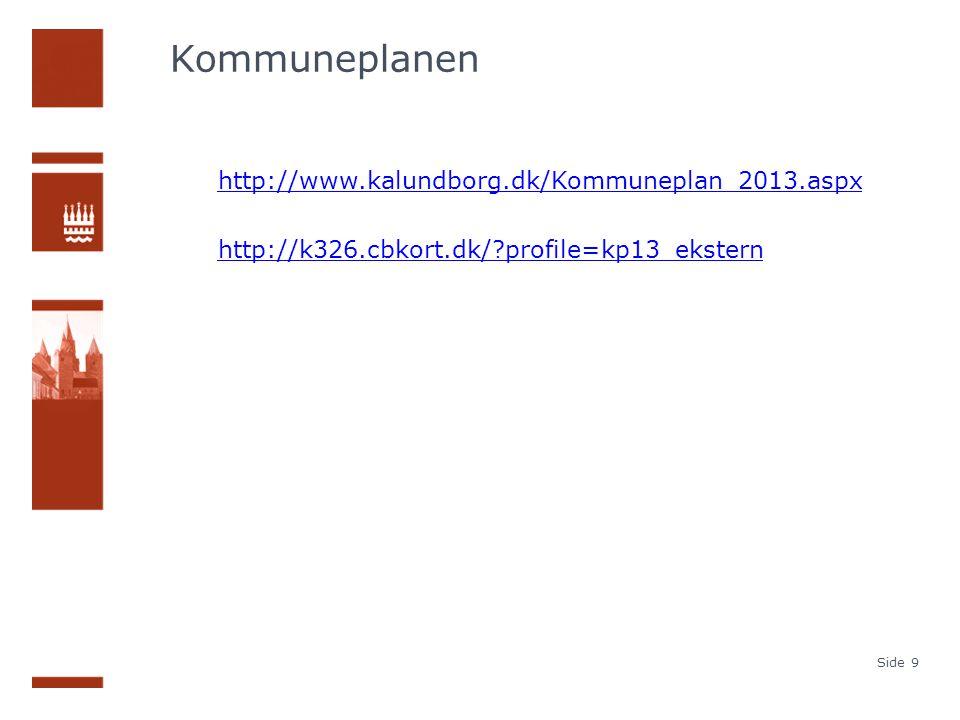 Kommuneplanen http://www.kalundborg.dk/Kommuneplan_2013.aspx http://k326.cbkort.dk/ profile=kp13_ekstern Side 9