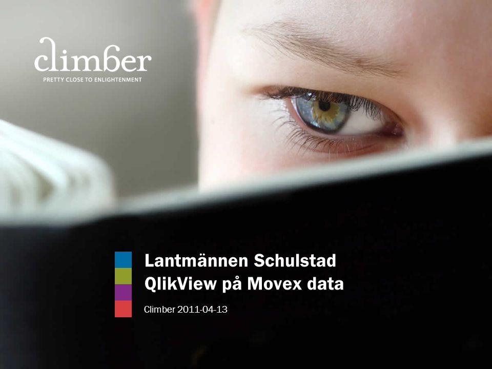 Lantmännen Schulstad QlikView på Movex data Climber 2011-04-13