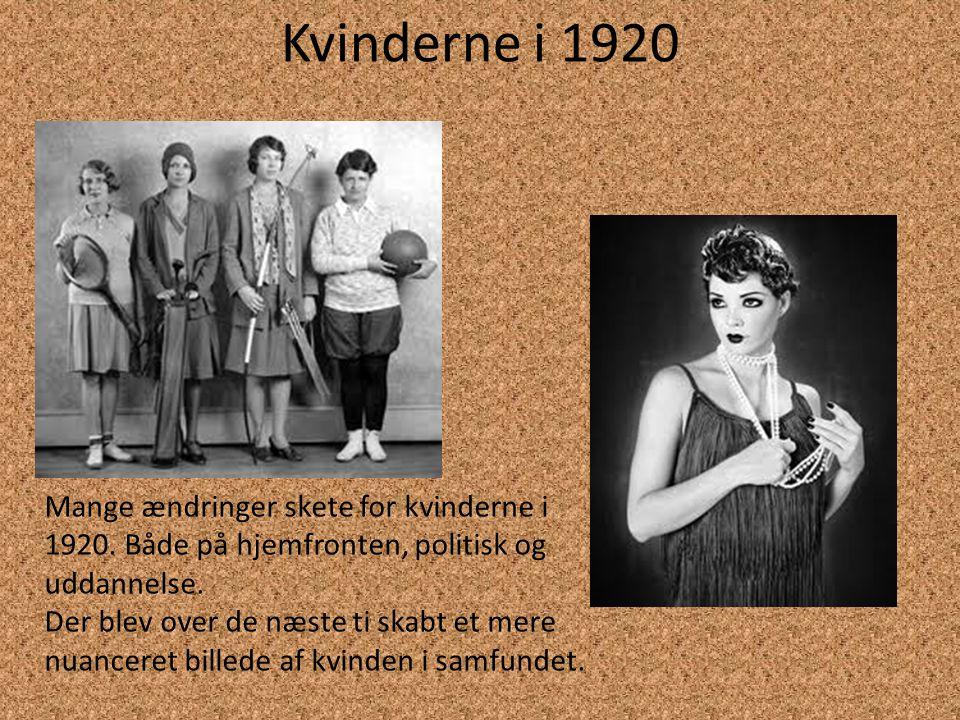 Kvinderne i 1930 Kvindernes rolle i 30'erne var mest af alt at holde sammen på familien.