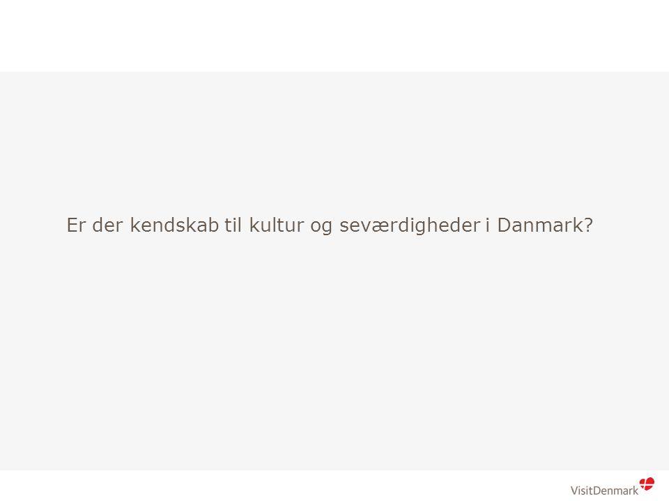 Brød 1 Brød 2 Er der kendskab til kultur og seværdigheder i Danmark