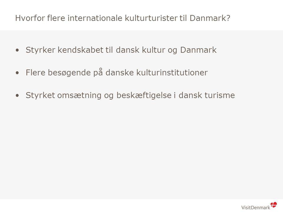 Brød 1 Brød 2 Hvorfor flere internationale kulturturister til Danmark.