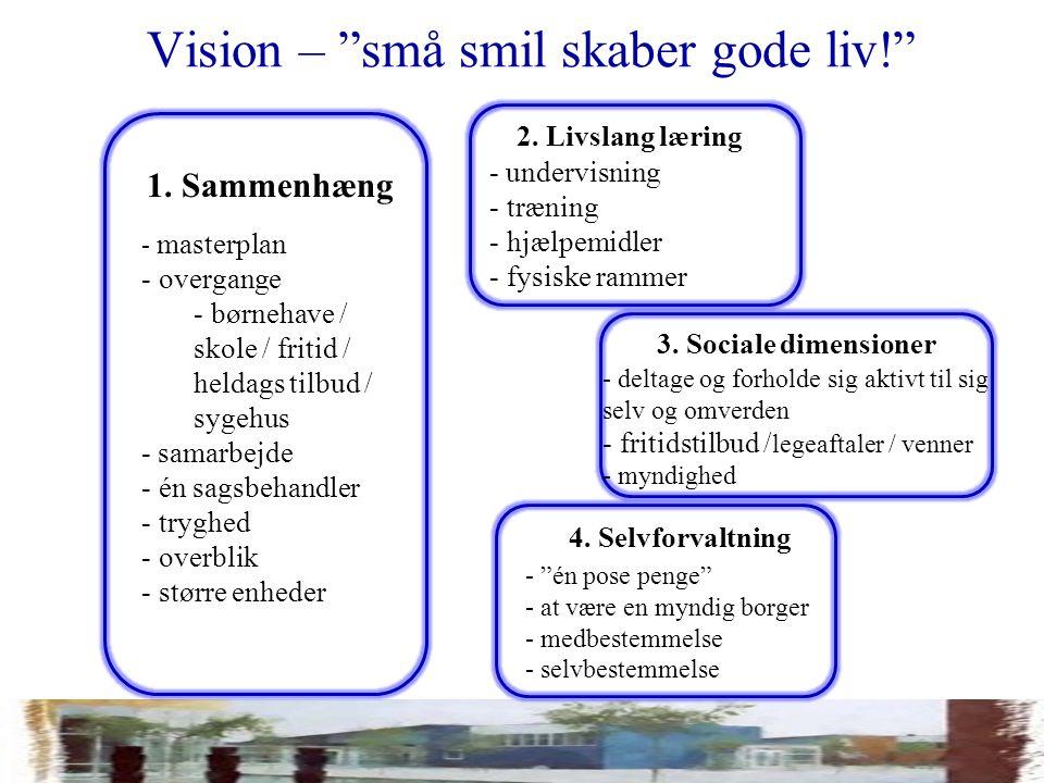 Vision – små smil skaber gode liv! 2.