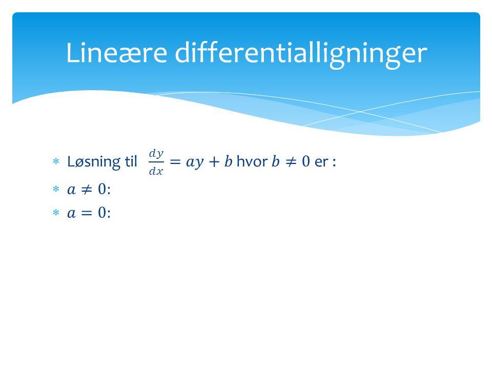 Lineære differentialligninger