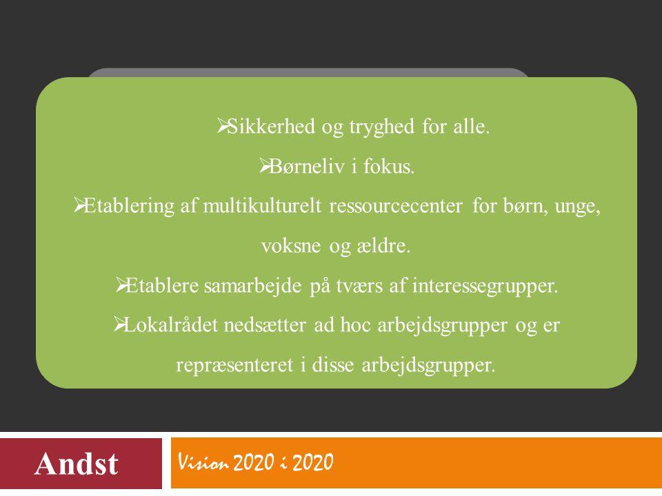 Vision 2020 i 2020 Andst  Sikkerhed og tryghed for alle.
