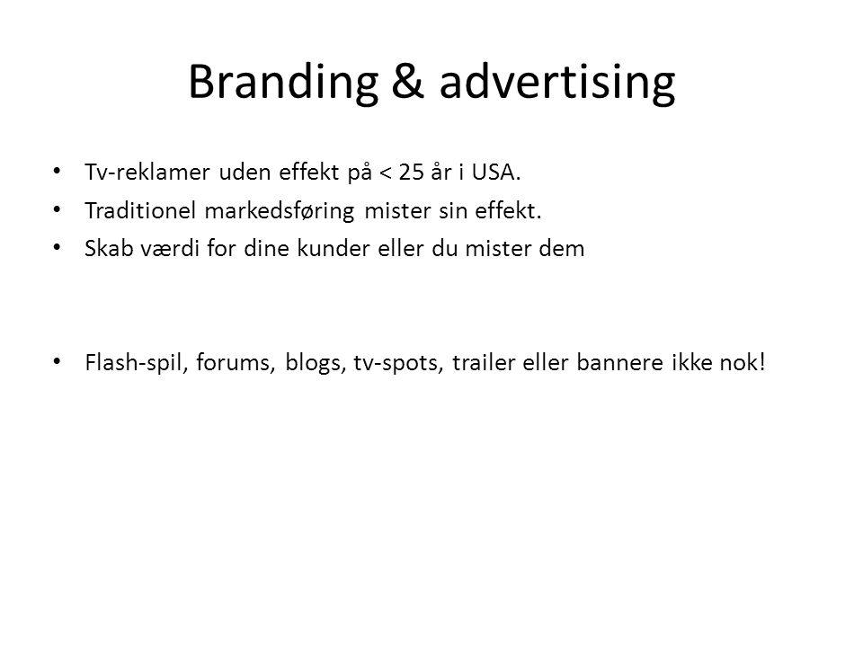 Branding & advertising Tv-reklamer uden effekt på < 25 år i USA.