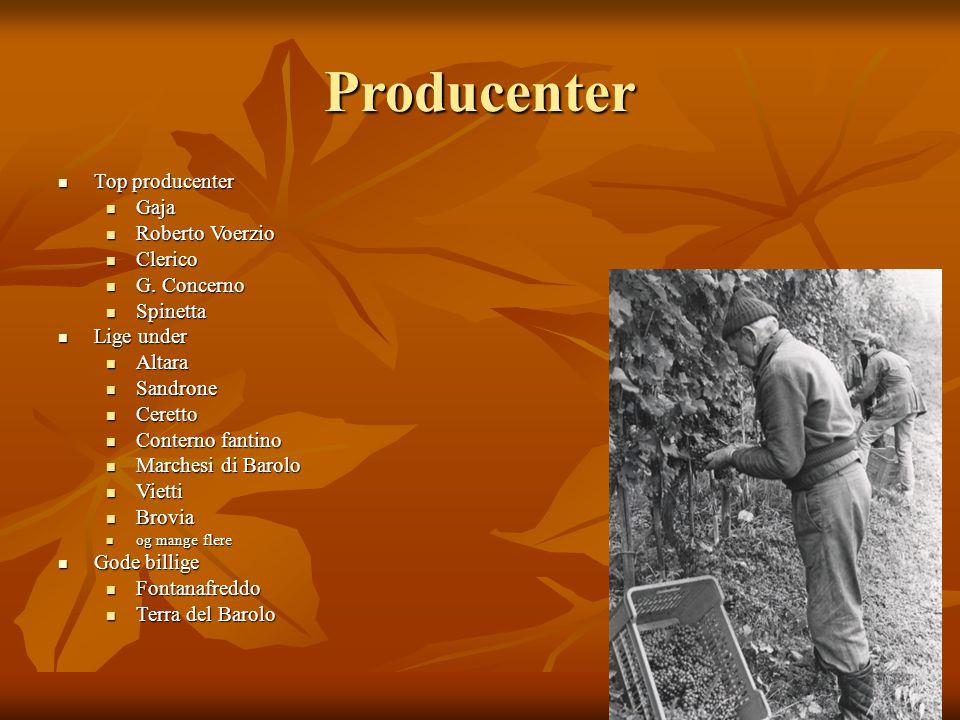 Producenter Top producenter Top producenter Gaja Gaja Roberto Voerzio Roberto Voerzio Clerico Clerico G.