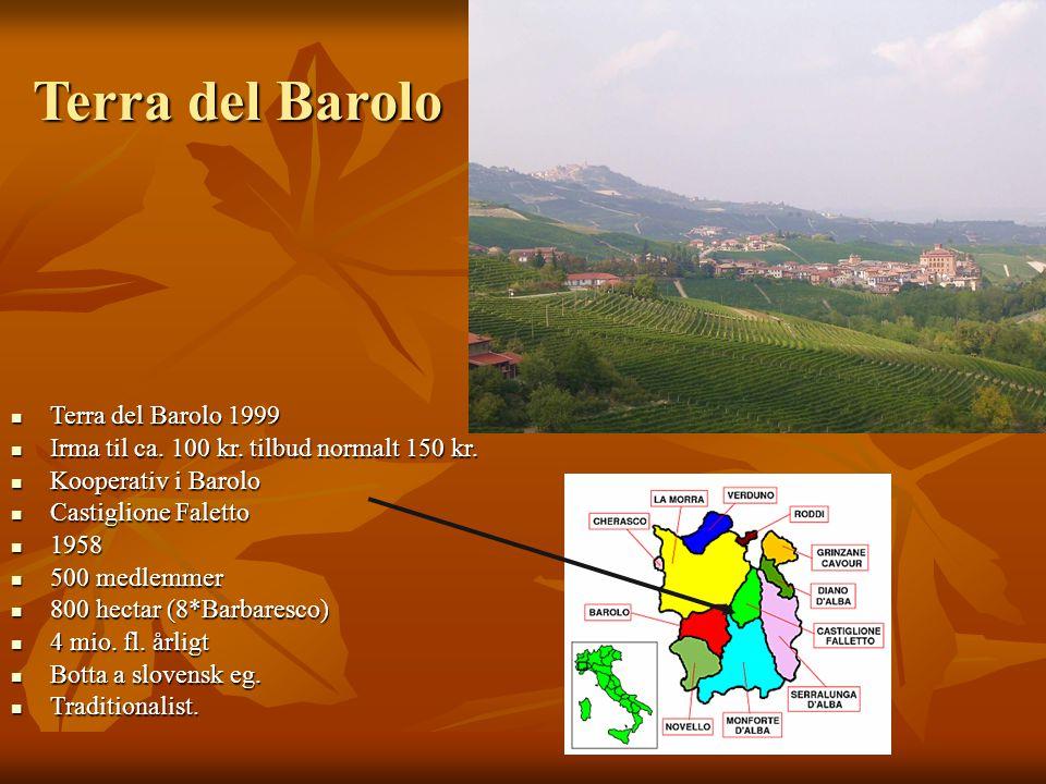 Terra del Barolo Terra del Barolo 1999 Terra del Barolo 1999 Irma til ca.