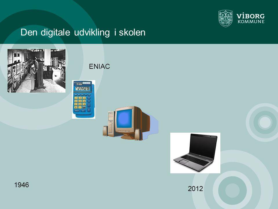 Den digitale udvikling i skolen ENIAC 1946 2012