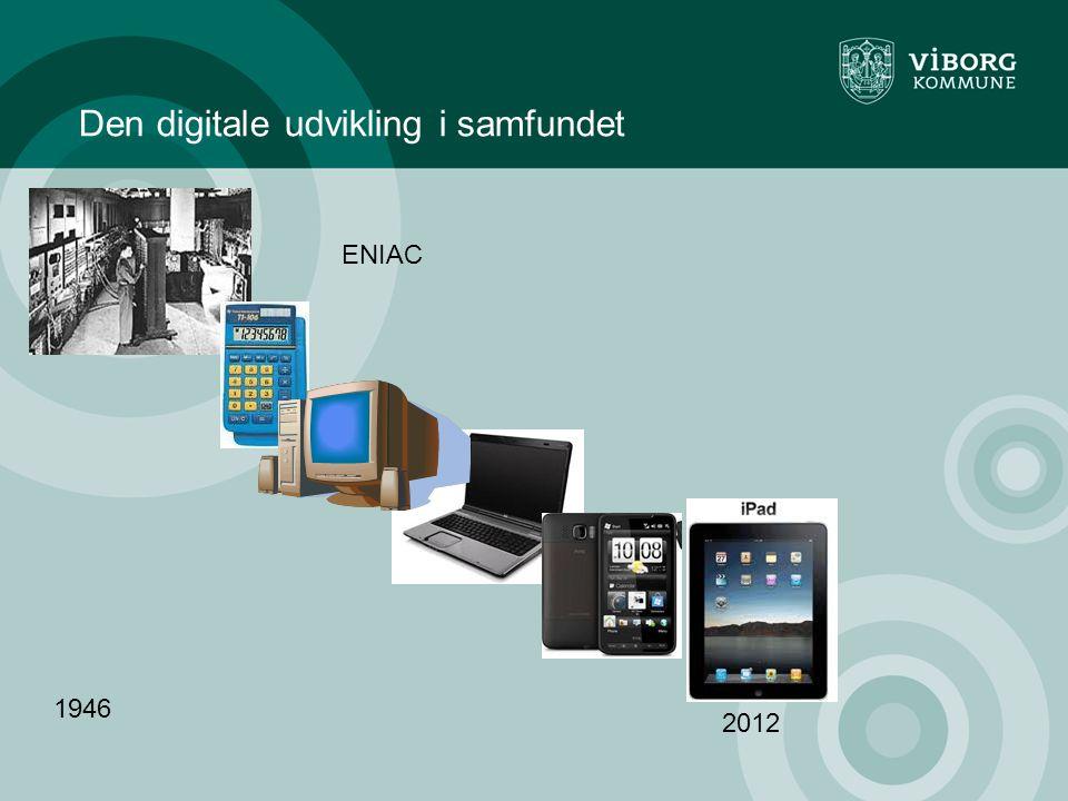 Den digitale udvikling i samfundet ENIAC 1946 2012