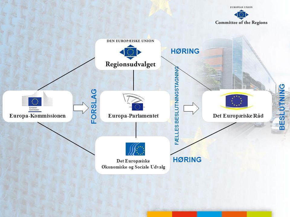 FORSLAG FÆLLES BESLUTNINGSTAGNING HØRING Europa-KommissionenEuropa-ParlamentetDet Europæiske Råd BESLUTNING Det Europæiske Økonomiske og Sociale Udvalg