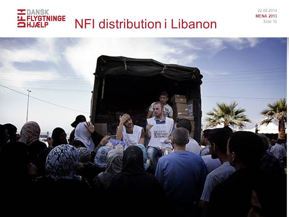 NFI distribution i Libanon 22-08-2014 MENA 2013 Side 16