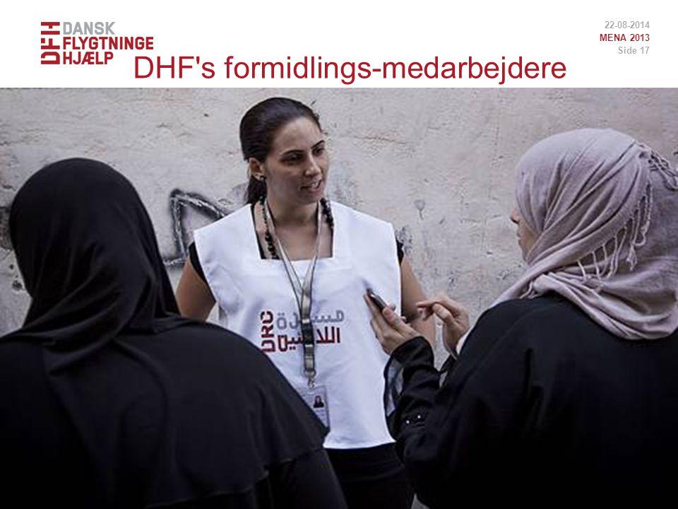DHF s formidlings-medarbejdere 22-08-2014 MENA 2013 Side 17