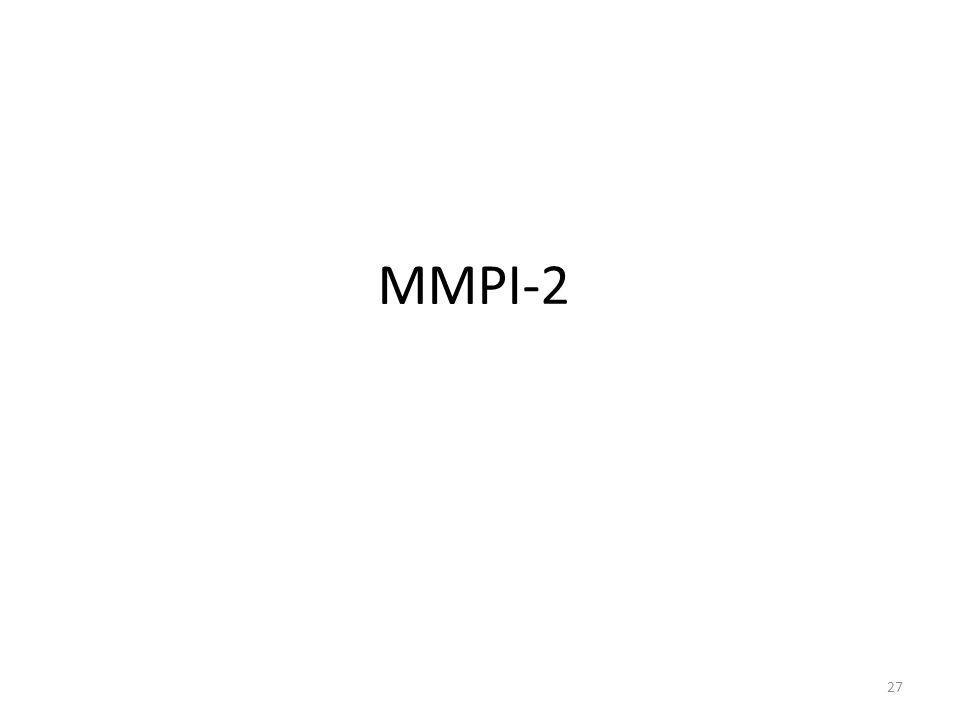 MMPI-2 27