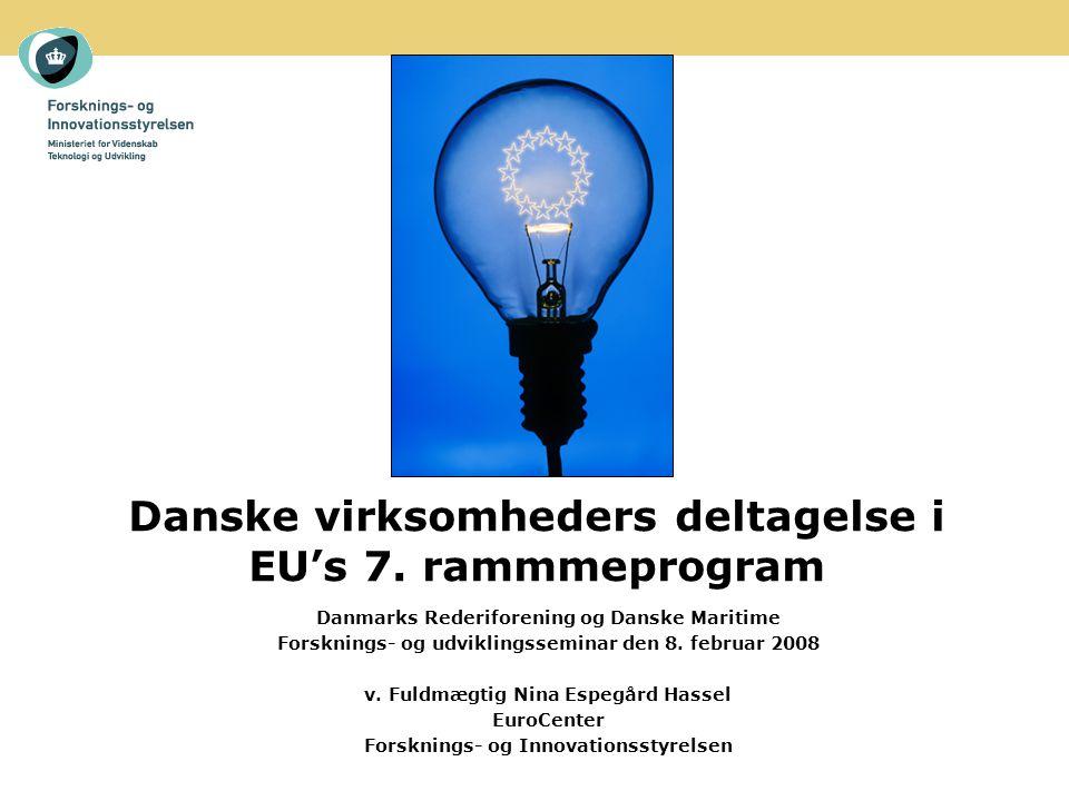 Danske virksomheders deltagelse i EU's 7.