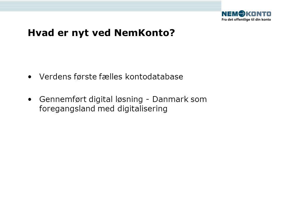 Hvad er nyt ved NemKonto.