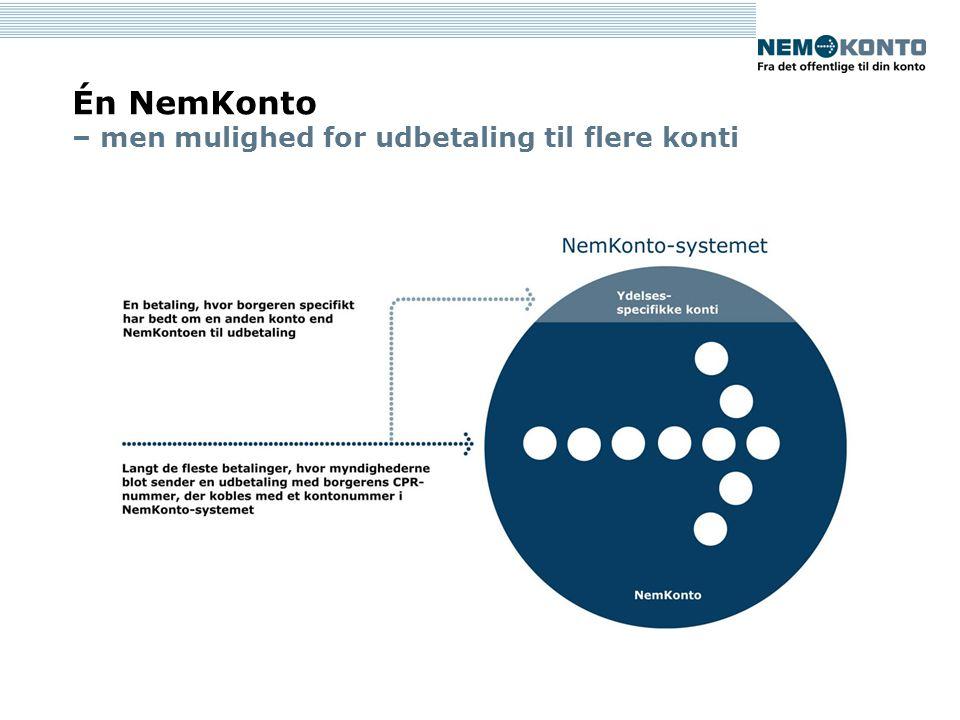 Én NemKonto – men mulighed for udbetaling til flere konti