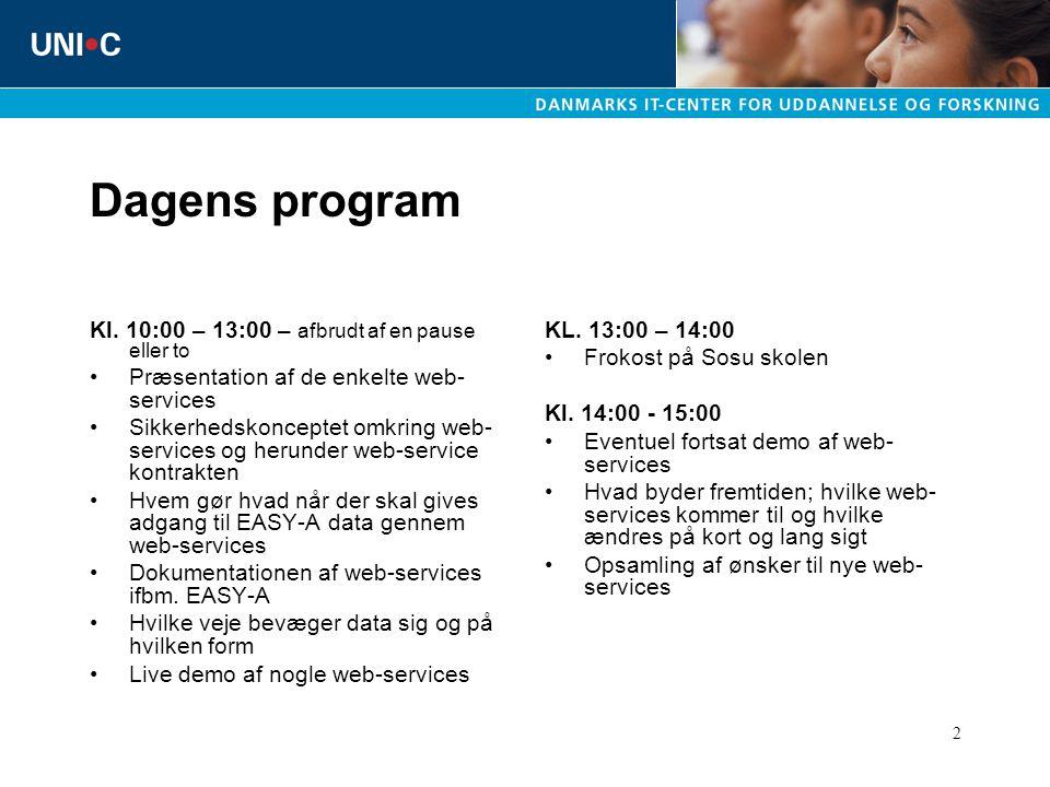 2 Dagens program Kl.