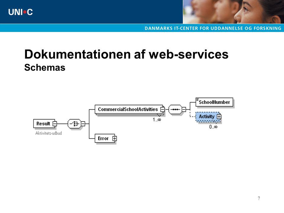 7 Dokumentationen af web-services Schemas
