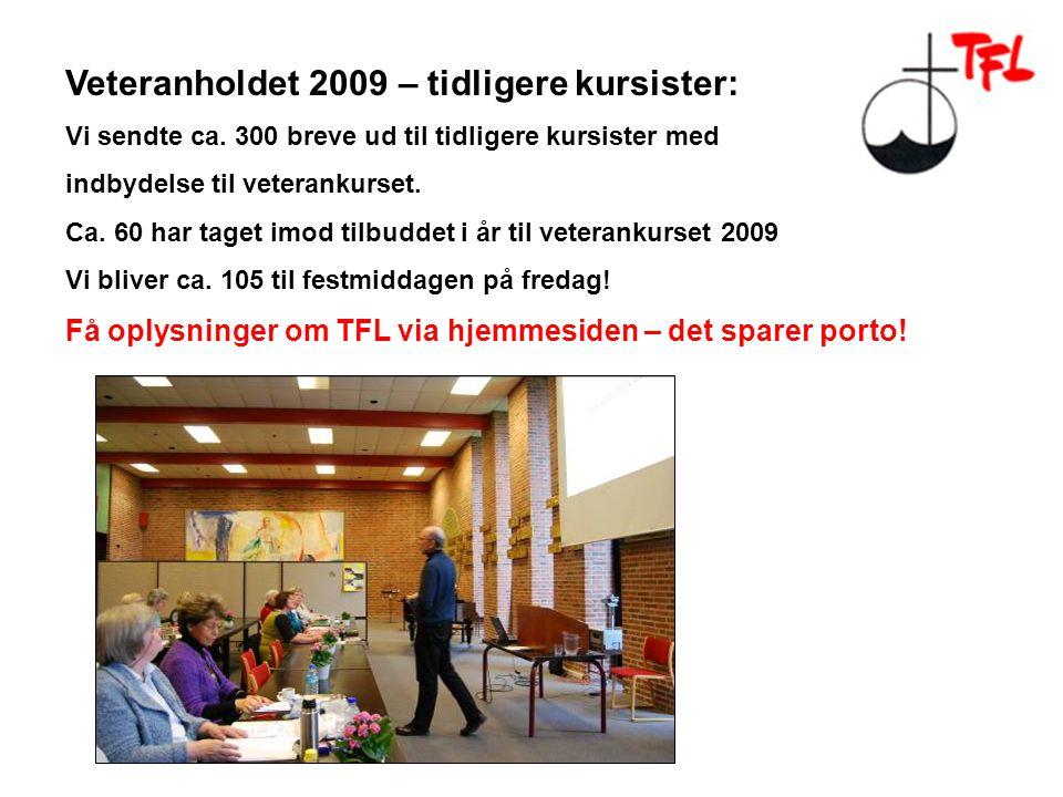 Veteranholdet 2009 – tidligere kursister: Vi sendte ca.