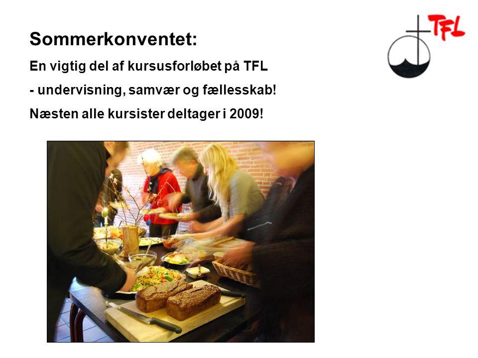 Sommerkonventet: En vigtig del af kursusforløbet på TFL - undervisning, samvær og fællesskab.
