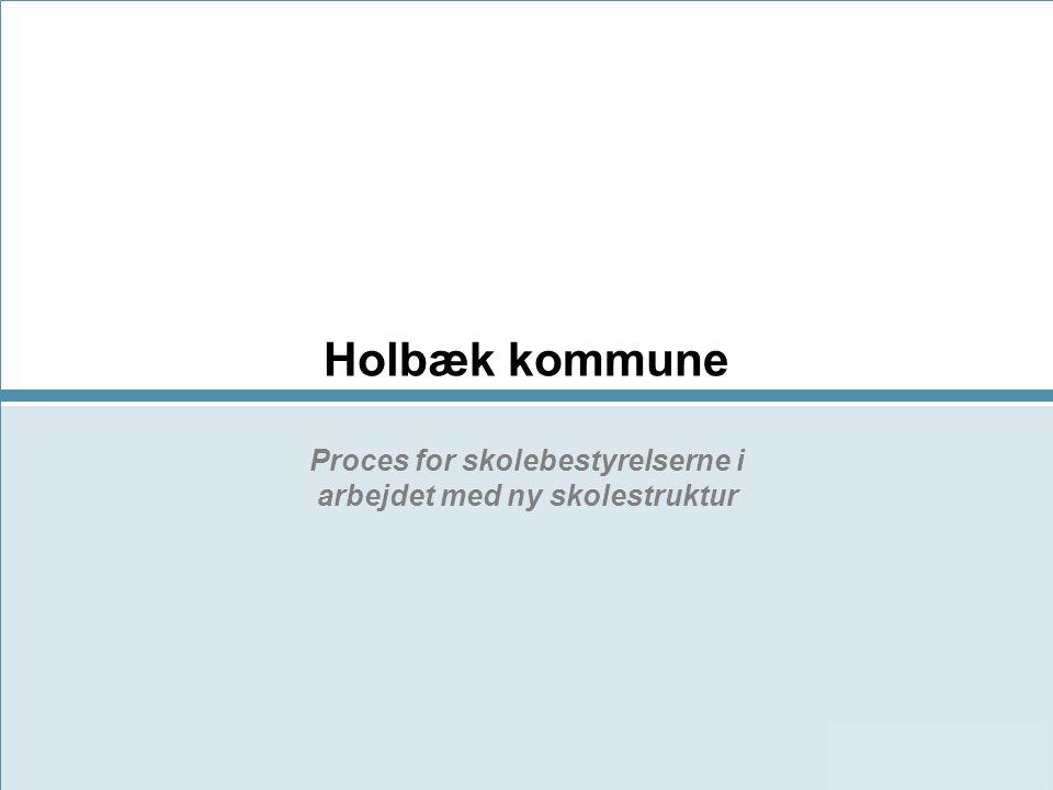 Holbæk kommune Proces for skolebestyrelserne i arbejdet med ny skolestruktur