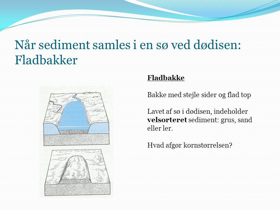 Fladbakke Lokalt eksempel: Tvingbakke (vest for Pibe Mølle) Stejl bakke med flad top, ofte udnyttet til råstoffer (tegl, grusgrav osv.)