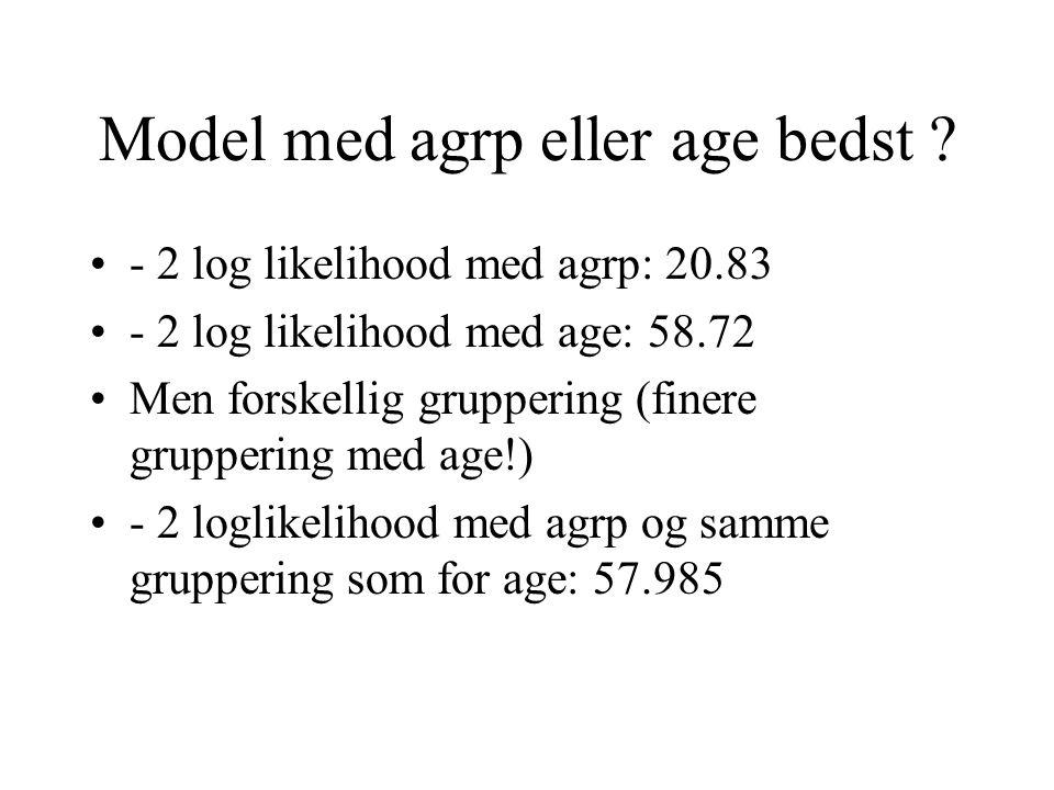 Model med agrp eller age bedst .