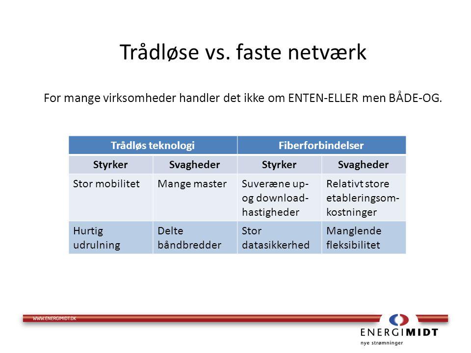 Trådløse vs. faste netværk For mange virksomheder handler det ikke om ENTEN-ELLER men BÅDE-OG.