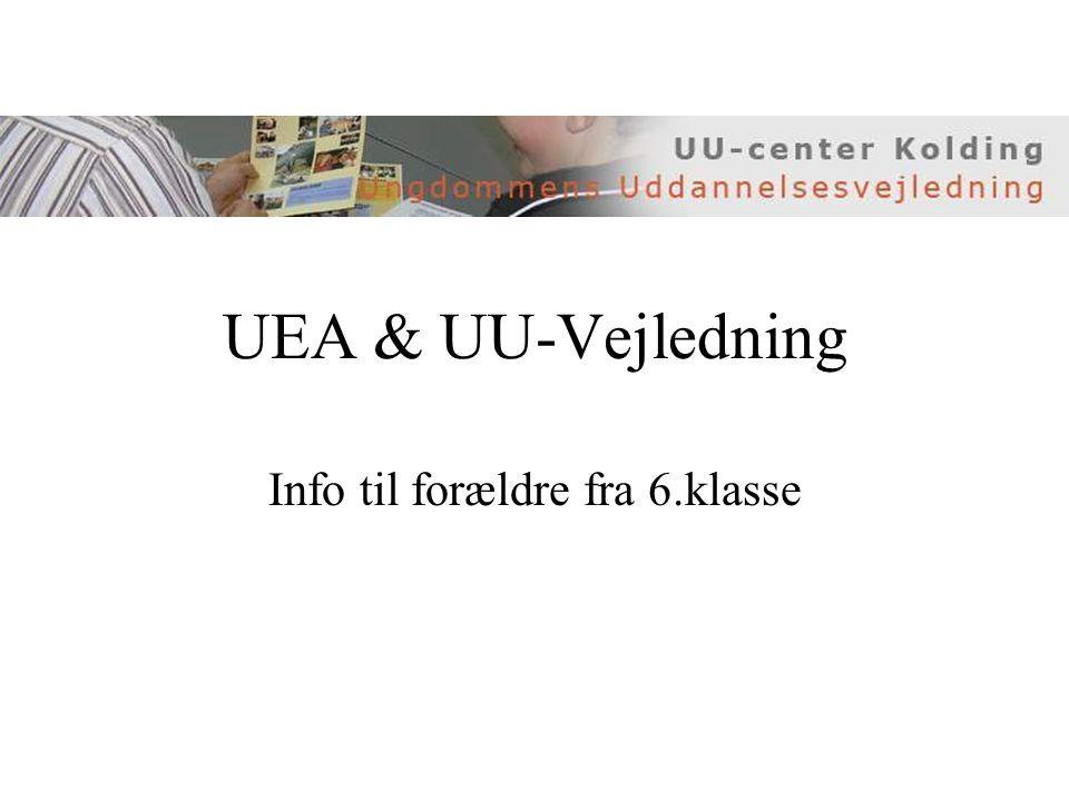 UEA & UU-Vejledning Info til forældre fra 6.klasse