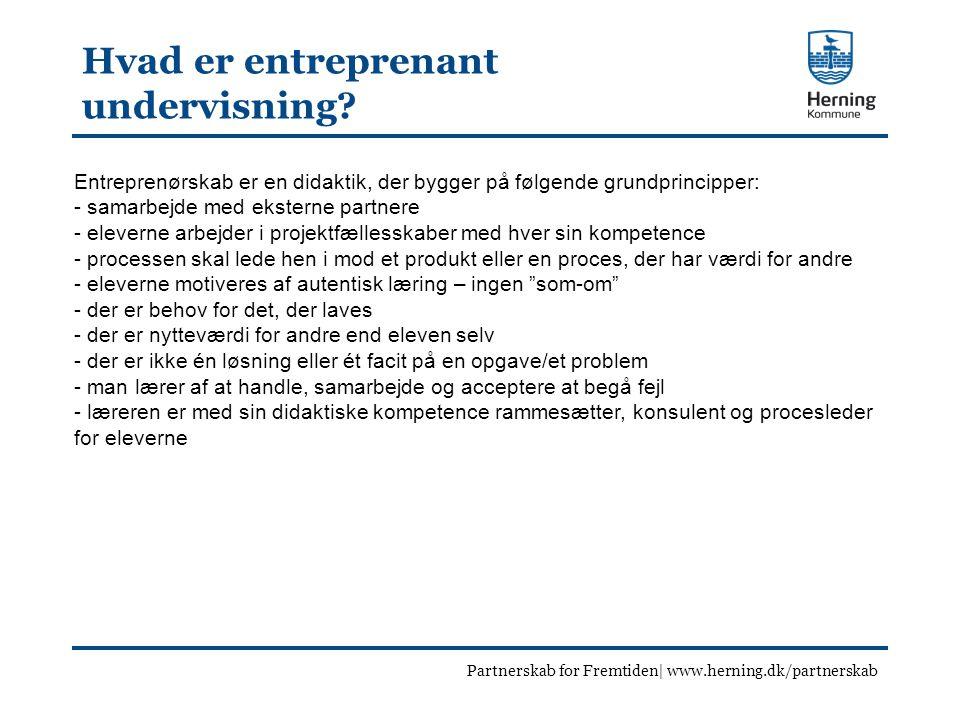 Hvad er entreprenant undervisning.