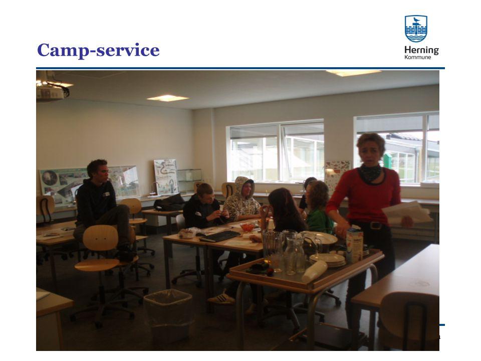 Skoleafdelingen Camp-service
