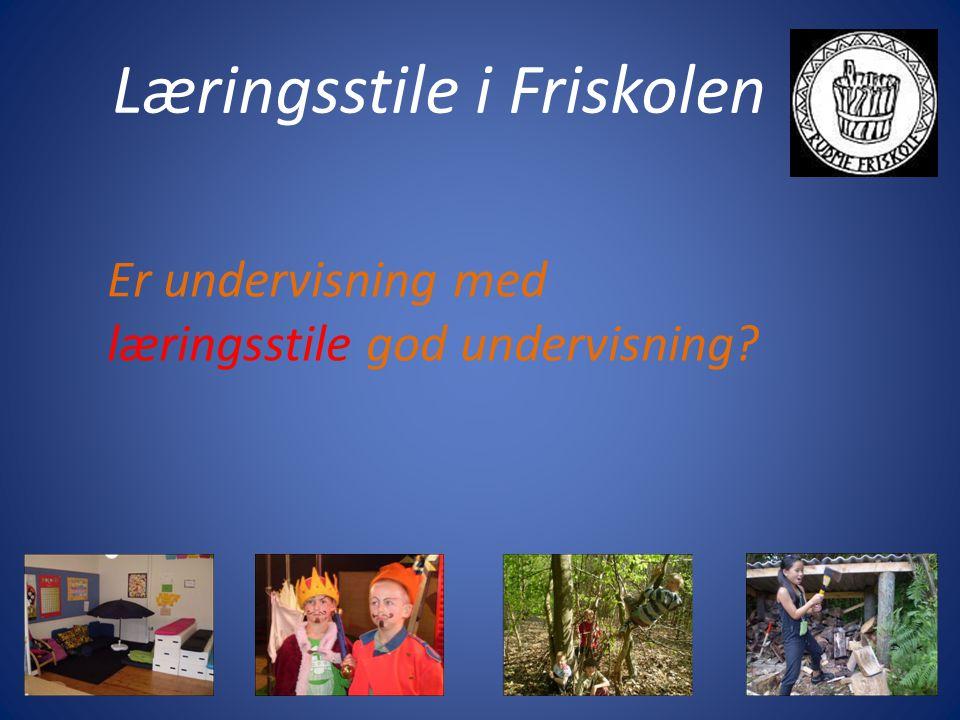 Læringsstile i Friskolen Er undervisning med læringsstile god undervisning