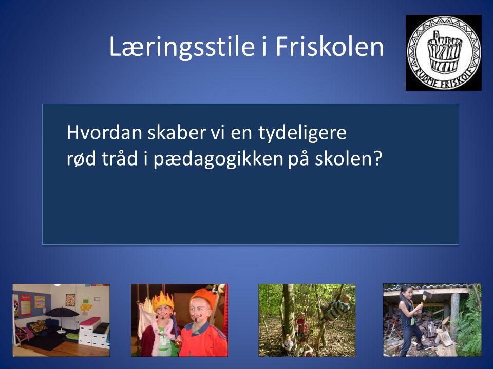 Læringsstile i Friskolen Hvordan skaber vi en tydeligere rød tråd i pædagogikken på skolen