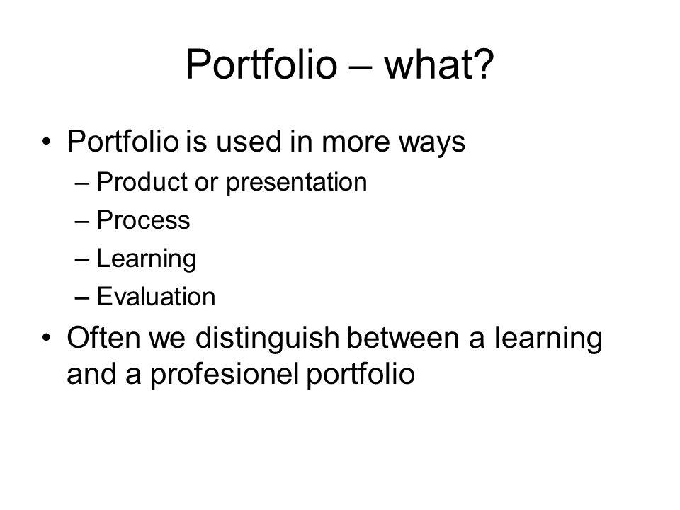 Portfolio – what.