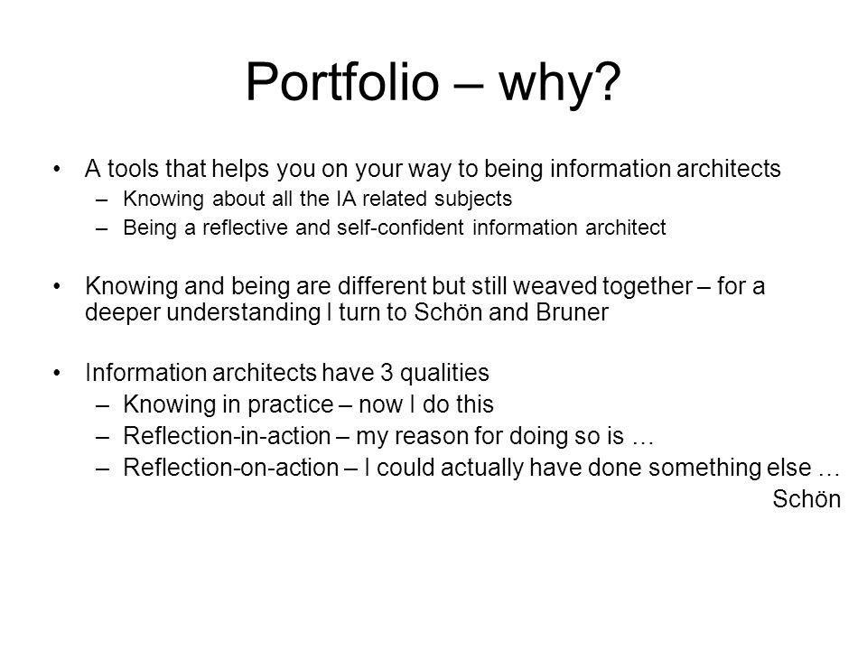 Portfolio – why.