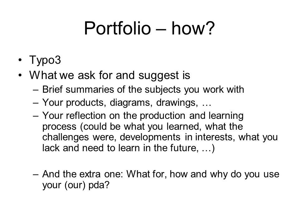 Portfolio – how.