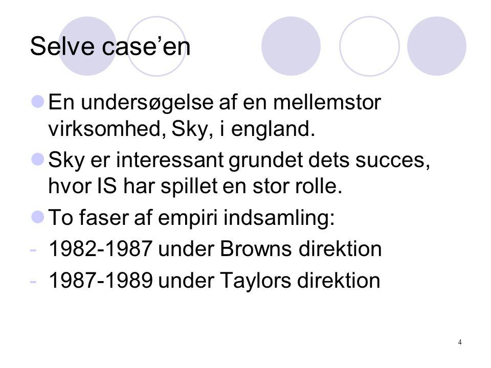 4 Selve case'en En undersøgelse af en mellemstor virksomhed, Sky, i england.