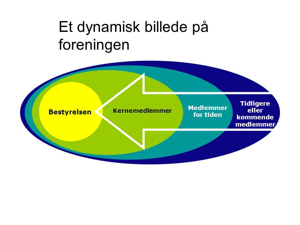 Bestyrelsen Kernemedlemmer Medlemmer for tiden Tidligere eller kommende medlemmer Et dynamisk billede på foreningen