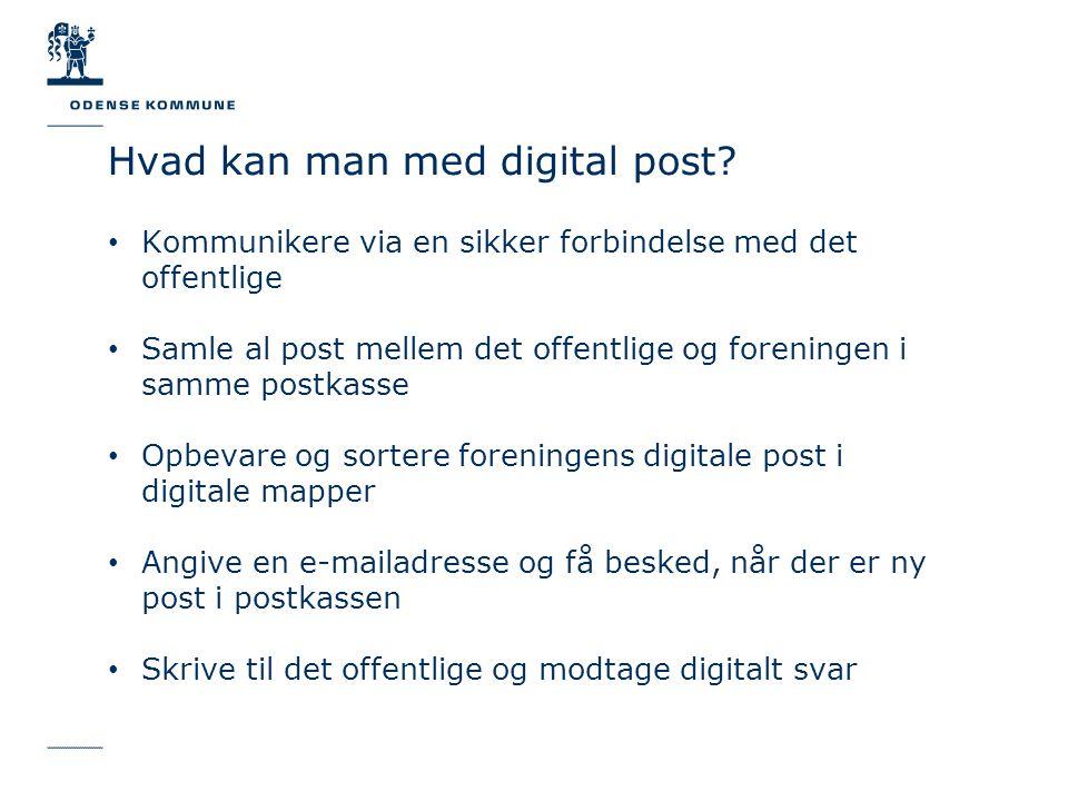 Hvad kan man med digital post.