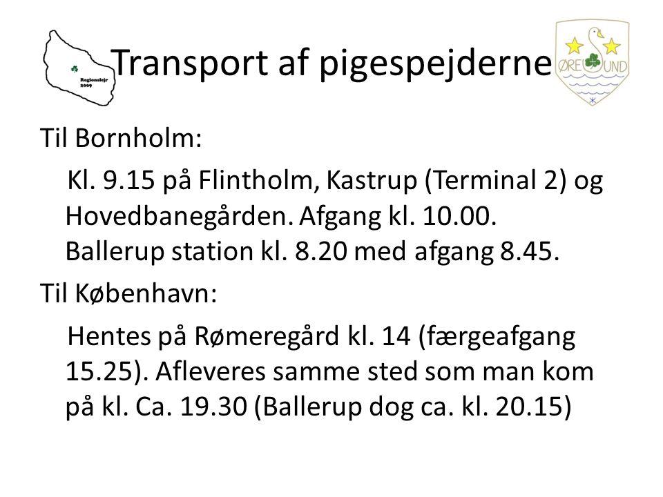 Til Bornholm: Kl. 9.15 på Flintholm, Kastrup (Terminal 2) og Hovedbanegården.