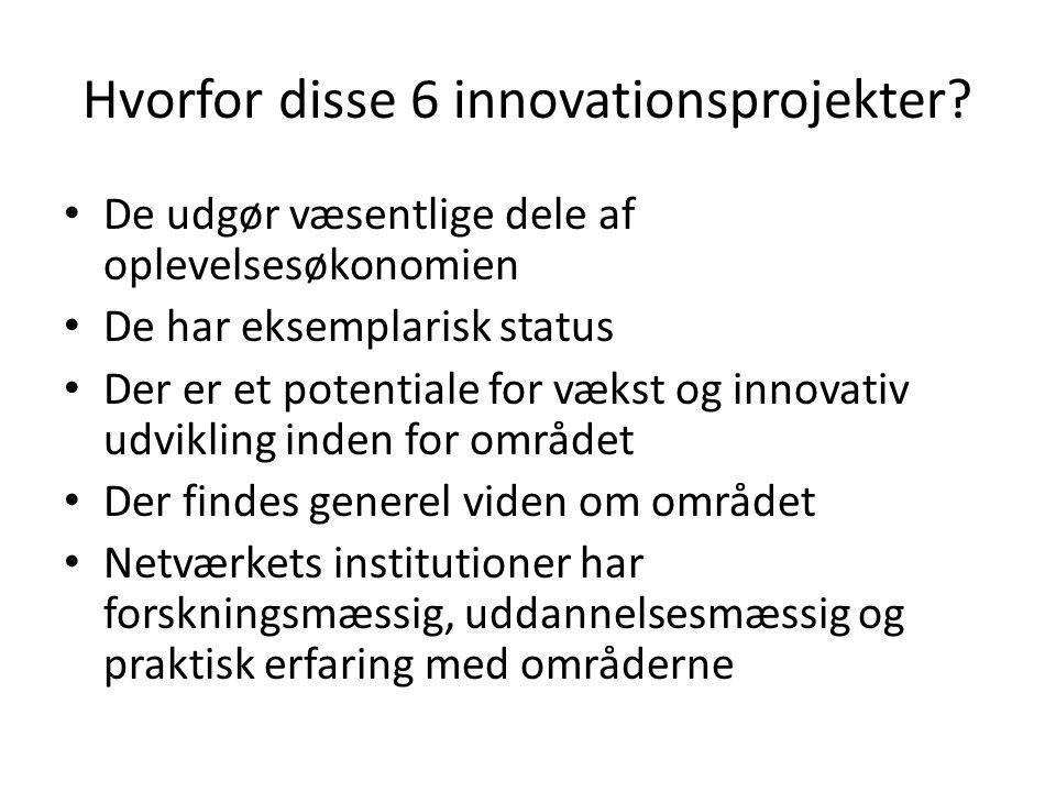 Hvorfor disse 6 innovationsprojekter.
