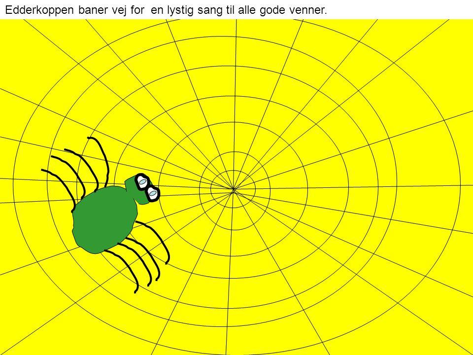 Edderkoppen baner vej for en lystig sang til alle gode venner.