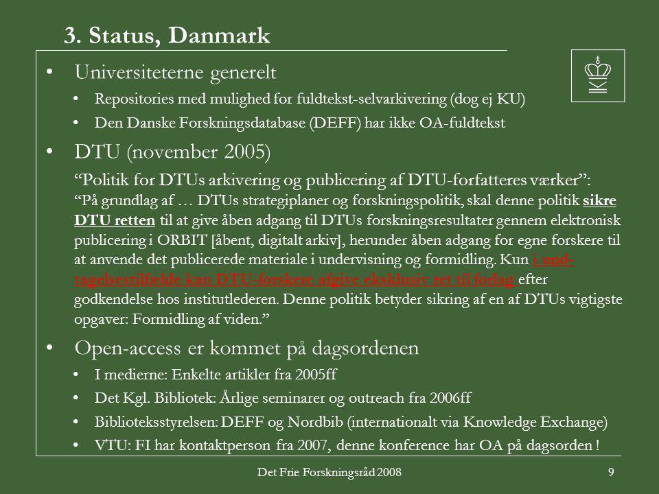 Det Frie Forskningsråd 20089 3.