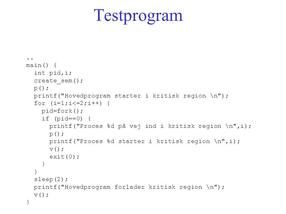 Testprogram..