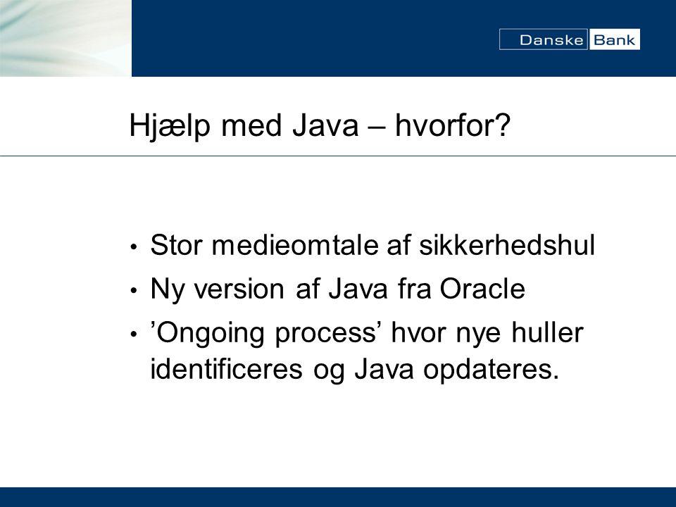 Hjælp med Java – hvorfor.