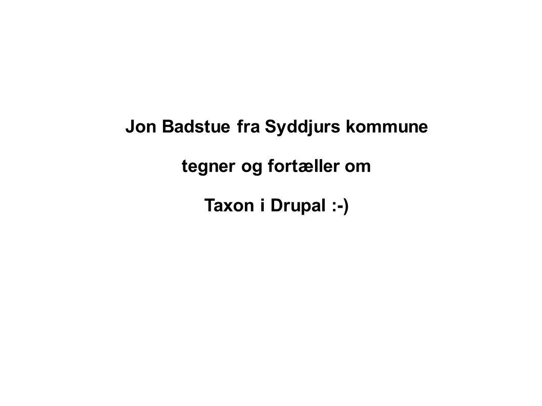 Jon Badstue fra Syddjurs kommune tegner og fortæller om Taxon i Drupal :-)