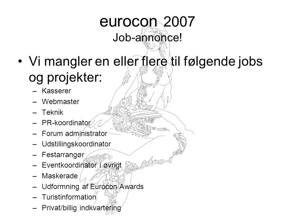 eurocon 2007 Job-annonce.