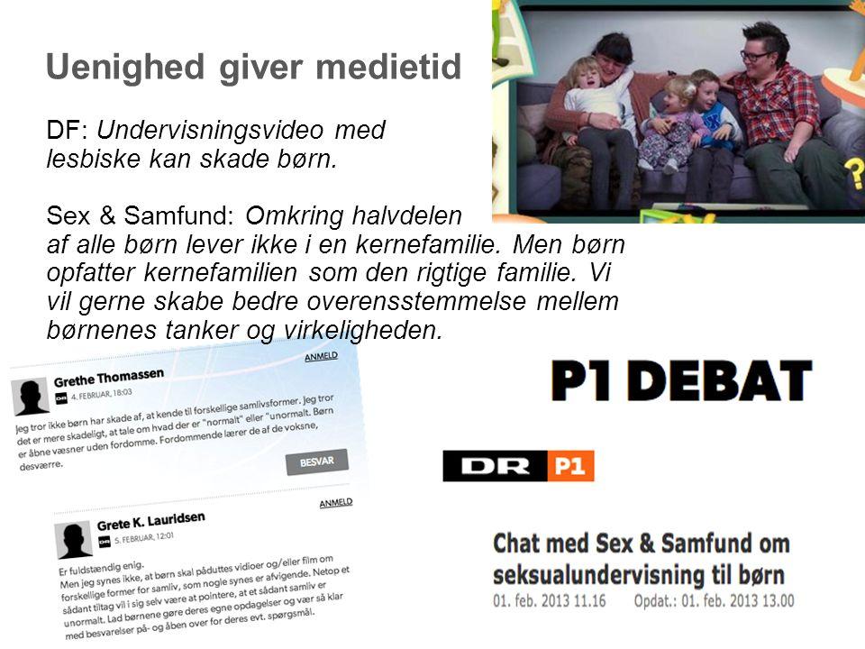 Uenighed giver medietid DF: Undervisningsvideo med lesbiske kan skade børn.