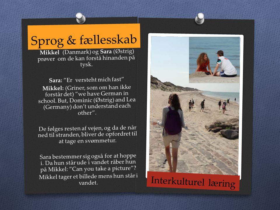 Sprog & fællesskab Mikkel (Danmark) og Sara (Østrig) prøver om de kan forstå hinanden på tysk.